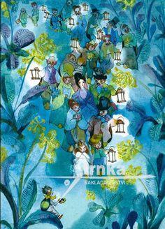 Obraz, rám Broučci, svatba - Jiří Trnka Pattern Illustration, Book Illustration, Sketchbook Inspiration, Fairy Art, Typography Prints, Art Design, New Art, Art Inspo, Vintage Art