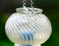 SALE - 20% off glass candleholders on Etsy