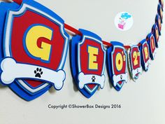 Paw patrol Banner ShowerBox Designs Birthday Diy, 3rd Birthday Parties, Paw Patrol Party Decorations, Cumple Paw Patrol, Paw Patrol Birthday Cake, Spiderman Theme, Auntie Gifts, Puppy Party, Banners