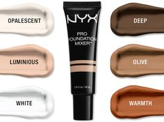 Fine-tune your foundation! Still searching for the perfect foundation shade? Blend your go-to shade with a drop or two of PRO FOUNDATION MIXER to lighten or darken any liquid formula.