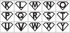 Super Hero Logos - a printable PDF!!!!