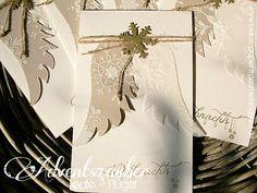 Bellas Papierträume Weihnachtskarte mit Renke Stempeln