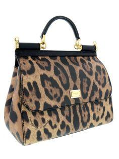 woman bag, sicily medium tote model, leopard print detail, magnetic closure, inner pocket measures: w: 25 cm h: 23 cm d: 12 cm hand: 8 cm adaptable…