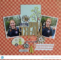 (image) A Scrapbook Layout Featuring Corrugated Paper