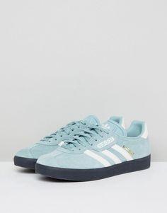 adidas Originals Gazelle Super Sneakers In Blue With Dark Gum f85302dbc