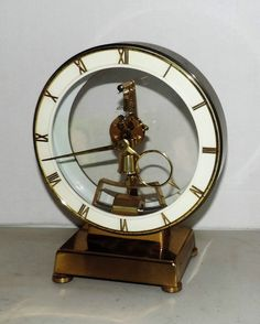 Kundo Kieninger Electromagnetic Mantle Clock Art Deco Germany Mid Century Modern   eBay