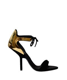 Suede and laminated sandal by Giuseppe Zanotti