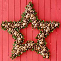 Nut studded star wreath