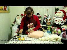 cabeza papa noel parte uno 1 3 Handmade Christmas Crafts, Christmas Sewing, Christmas Art, Xmas, Holiday Ornaments, Christmas Decorations, Cold Porcelain, Santa, Diy Crafts