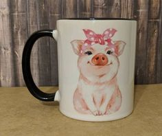 Pig Mug, Be Awesome Mug Pot Belly Pigs, Animal Mugs, Cute Pigs, Gifts For Family, Cheers, Funny Animals, Coffee Cups, Smile, Gift Ideas