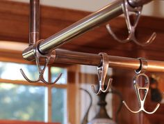 Custom Mitered Corner Pot Rack Eur 10 In Oiled Bronze Finish Corners French