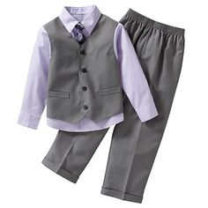 This, but with the blue shirt - for the littlest man. Arrow Hairline Stripe Vest Set - Boys' 4-7