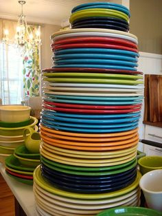 Fiesta chop plates and buffet plates (just a couple in different colors!)