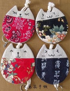 Pinned By Yogafleurdelot Drawing - Diy Crafts Cat Crafts, Sewing Crafts, Diy And Crafts, Sewing Projects, Arts And Crafts, Key Pouch, Cat Quilt, Key Covers, Creation Couture