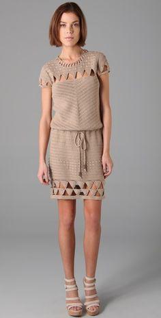 I think it's pretty. Crochet dress.
