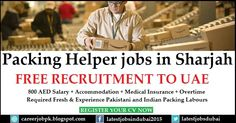 Packing Helper jobs in Dubai. Factory required fresh and experienced Pakistani and Indian packing labors 800 AED Salary + Accommodation + Medical Insurance + Overtime.