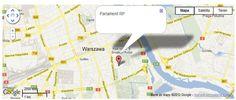 Tak wygląda przykładowa mapa, którą osadzamy na Facebooku.