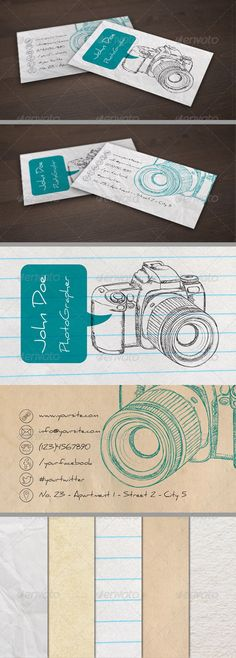 Handdrawn Photographer Business Card