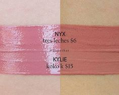 Dupethat - NYX Intense Butter Gloss in Tres Leches looks just like Kylie Cosmetics Gloss in Koko K Kylie Koko K Dupe, Kylie Dupes, Skincare Dupes, Beauty Dupes, Beauty Makeup, Makeup Tips, Beauty Hacks, Makeup Stuff, Makeup Ideas