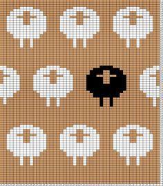 Tricksy Knitter Charts: a take on the metalheavyknits stranded sheep chart/pattern by SMendel by beryl Fair Isle Knitting Patterns, Knitting Charts, Loom Knitting, Free Knitting, Knitting Machine, Vintage Knitting, Motif Fair Isle, Fair Isle Chart, Christmas Cross Stitch Alphabet