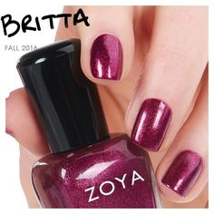 Meet #ZoyaBritta, a gorgeous metallic berry red that will soon become your Fall favorite!  #healthierishappier #everydayfall #holo #fall #love