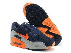 $52.99 Nike Air Max 90 EM Navy Blue Grey Orange