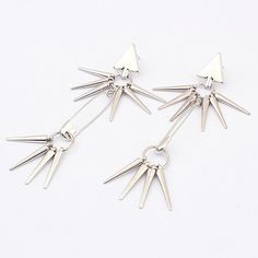 Drop Safety Pin Spike Earring