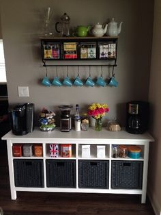 Coffee/tea station!