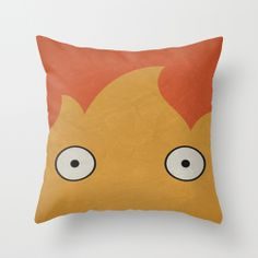 Inspiration for fun and unexpected cushion covers! Howl's Moving Castle Poster Throw Pillow