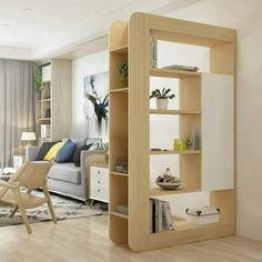 Top 40 Modern Partition Wall Ideas in 2020 Living Room Partition Design, Living Room Divider, Room Partition Designs, Room Divider Shelves, Partition Ideas, Wall Partition, Hanging Room Dividers, Space Dividers, Diy Furniture