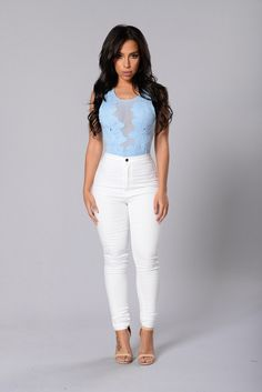 Beautiful Disaster Bodysuit - Pale Blue | Fashion Nova