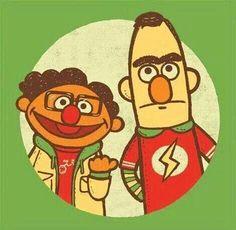 Bert & Ernie × Leonard & Sheldon: Sesame Street x Big Bang Theory