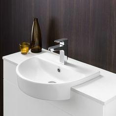 Cosmique Semi Recessed Basin - Modern rounded design. //.caroma & Liano Vanity Basin http://www.caroma.com.au/bathrooms/basins/liano ... pezcame.com