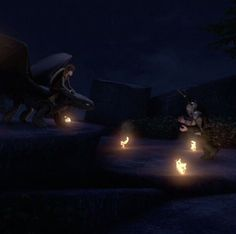 Hiccup and Toothless confronting Daggur