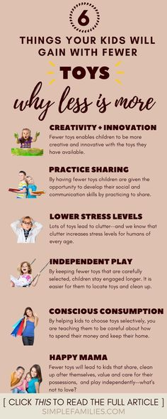 6 Reasons Your Kids Need Fewer Toys : Getting Started With Toy Minimalism Your kids will be happier with fewer toys, and here's why! This is great for parents wanting to cut clutter and try a minimalist approach to toys. Parenting Quotes, Parenting Advice, Kids And Parenting, Gentle Parenting, Funny Parenting, Peaceful Parenting, Parenting Websites, Practical Parenting, Mindful Parenting