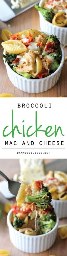 Broccoli Chicken Mac and Cheese - 16 Best Light Spring Dishes   GleamItUp