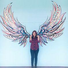 You dont no how high I can fly beaches Graffiti Wall Art, Mural Wall Art, Angel Wings Art, Urban Street Art, Feather Art, Art Lesson Plans, Art Portfolio, Art Lessons, New Art