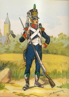 French; Imperial Guard, 2nd Regiment Conscrit Chasseurs, Sergeant, Grande Tenue, 1809-10