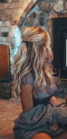 22 ideas hair color blonde balayage summer haircolor - All For New Hairstyles Winter Hairstyles, Black Women Hairstyles, Long Blonde Hairstyles, African Hairstyles, Latest Hairstyles, Hair Down Hairstyles, Hairstyle Ideas, Half Up Half Down Hairstyles, Half Pony Hairstyles