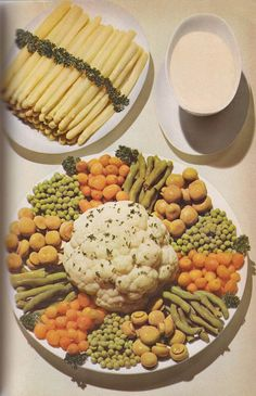 Meticulously Arranged Vegetable Wheel Of Dreariness From The Esteemed Dr. Oetker. (German Home Cooking, 1963)
