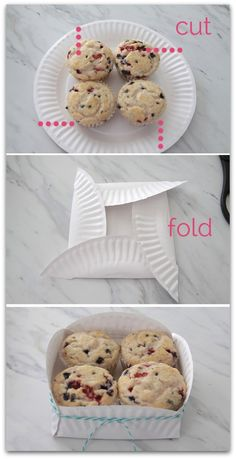 Paper Plate Basket - great to send leftovers home with guests