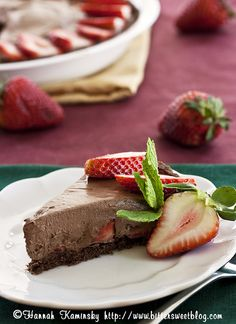 Strawberry-Chocolate Mousse Pie by Bitter-Sweet-, via Flickr