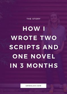 "For the majority of my writing life, I had been the writer who does a lot of talking, but not a lot of writing. However, one day during my junior year of college, my boyfriend said to me, ""For someone who wants to be writer, you don't write very much."" Now, to many people that might seem h"