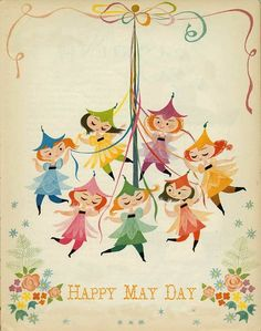 Happy #MayDay! :) vintage art by Mary Blair