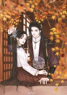 Anime Couples Drawings, Anime Couples Manga, Anime Guys, Chinese Artwork, Chinese Drawings, Anime Love Couple, Couple Art, Anime Art Girl, Manga Art