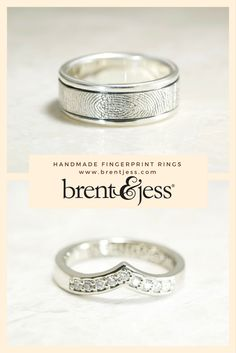 Custom made rings with YOUR fingerprints! Romantic and unique to you!