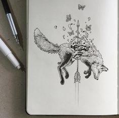 zorro ideas de disenos de tatuajes de animales