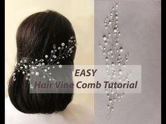 EASY DIY Bridal Hair Vine, Hair Comb Headband Tutorial with Pattern - YouTube