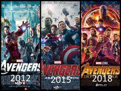 Avengers poster: Avengers, Age of Ultron, Infinity War
