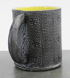 Cable Knit Stoneware Mug.  WHHAAAT!!!  I neeeeed this!